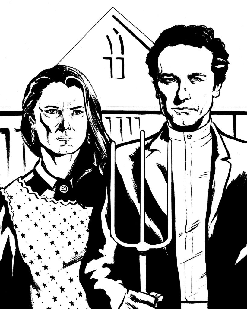 Elizabeth and Phillip Jennings (Keri Russell and Matthew Rhys, The Americans)