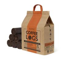 Biobean's pellets and coffee logs.