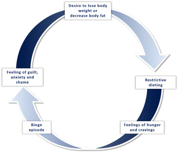 Figure 3. Explanatory model of the binge–restrict cycle