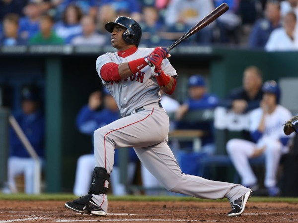 The Tigers landed Cuban outfielder Yoenis Cespedes from the Red Sox in exchange for right-handed starter Rick Porcello on Thursday, December 11, 2014 (Photo: Ed Zurga/Getty Images)