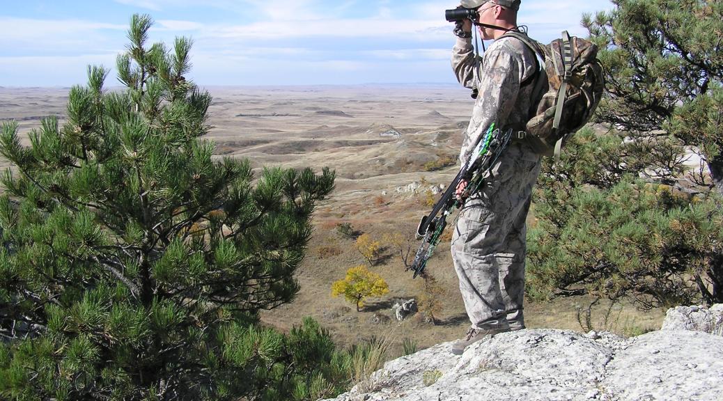 Hunter Glassing (Spotting) from Vantage Point