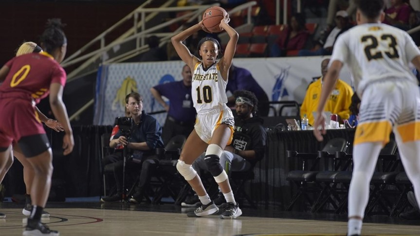 BSU Women trounce Shaw in first Day of CIAA tournament
