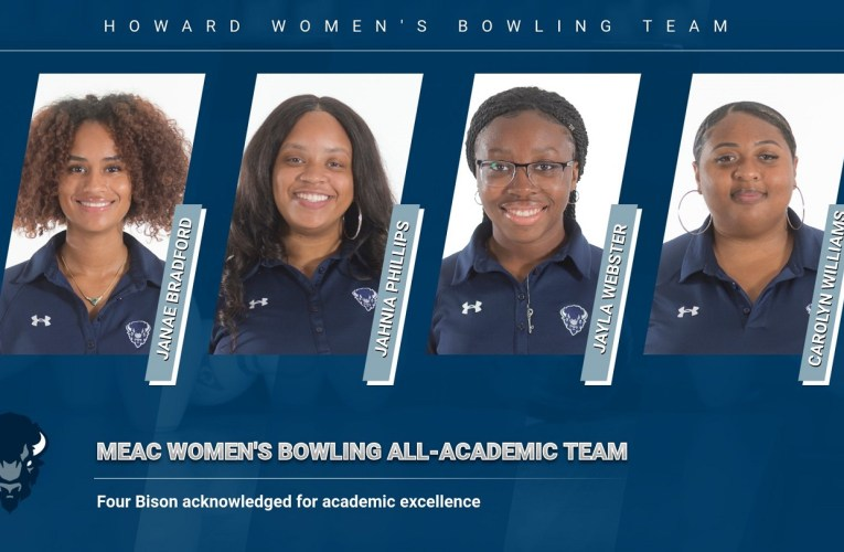 Howard University bowlers earn MEAC All-Academic Honors