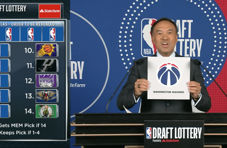 Washington lands No. 9 pick in NBA Draft Lottery