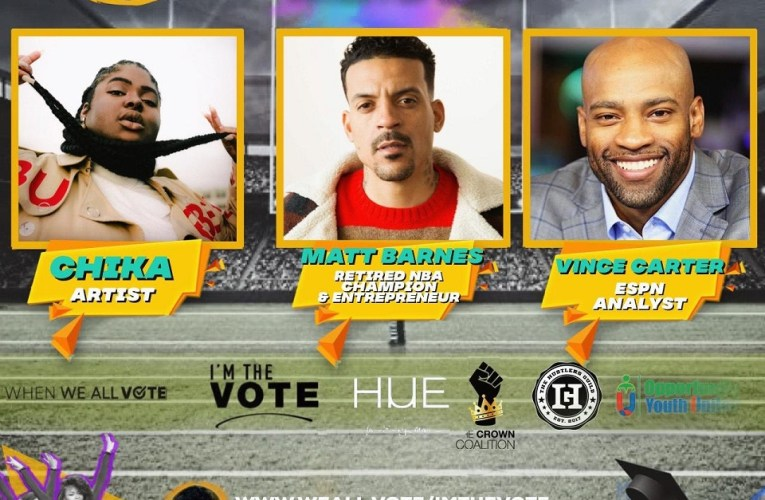NBA legends and rapper Chika spread voting awareness in virtual pep rally