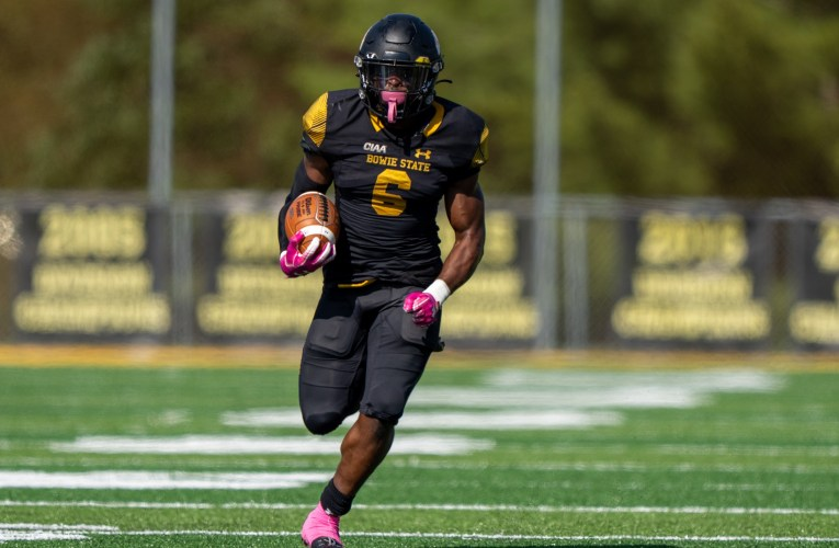 No. 20 Bowie State Celebrates Homecoming with 44-7 Win against Johnson C. Smith
