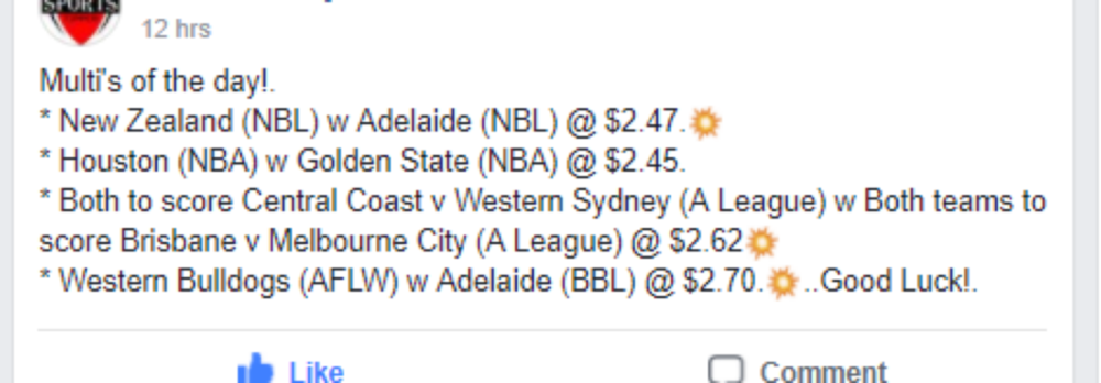 The Sports Tipper Sports Results