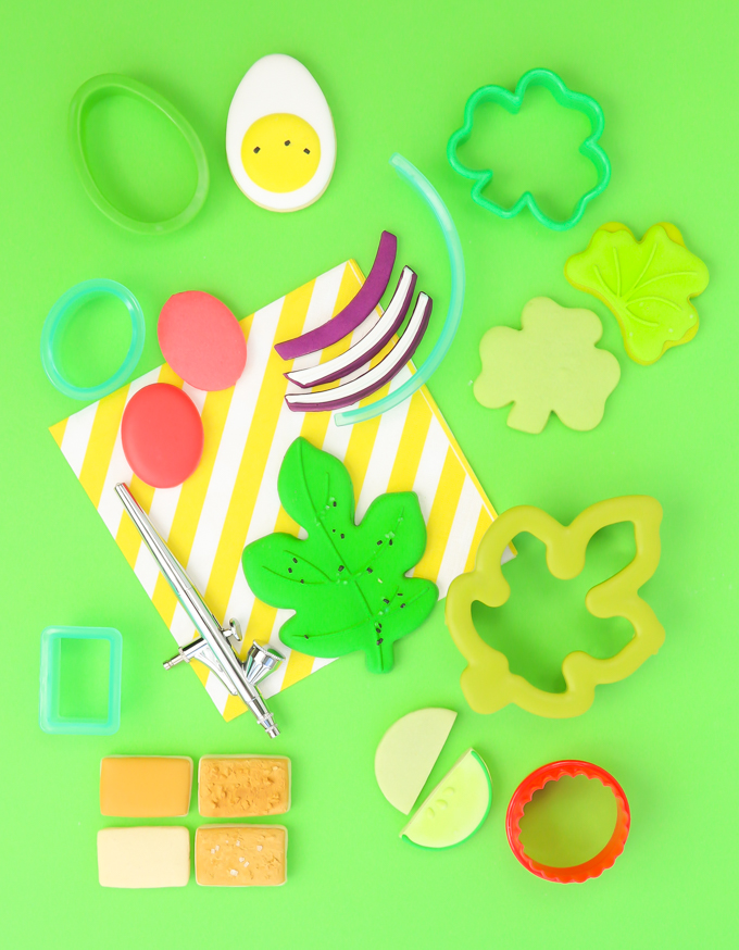 a step by step image of how to make a sugar cookie salad