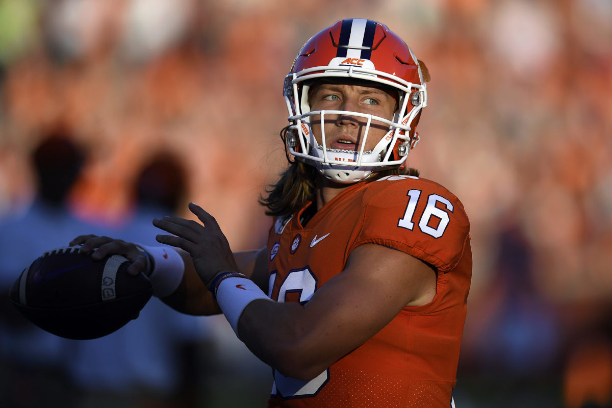 Clemson quarterback Trevor Lawrence in Week 1, the projected top pick in the 2021 NFL Draft next April.