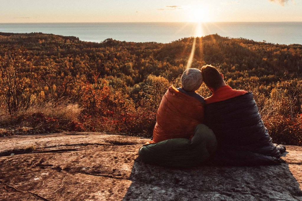Watching the sun rise over Lake Superior with a friend