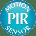 Features PIR sensors that help conserve battery life