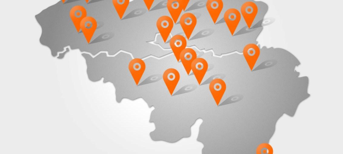 Cambio map of Belgium