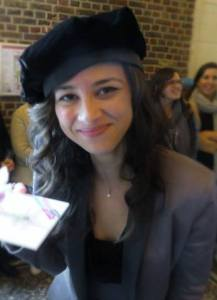 A picture of Diana who just finished her phd in Gent