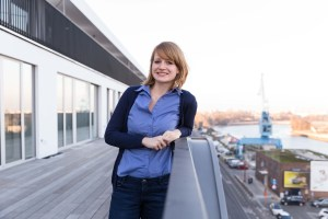 This is a picture of Katrin Kirchmann who found a job in a startup called teamleader in Ghent