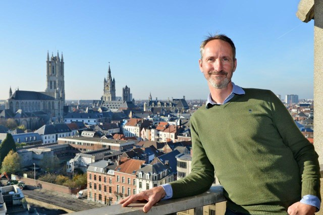 This is a picture of Olivier De Cock of Startersfabriek in Ghent