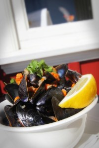 Mussels are a typical dish at restaurants in Ghent