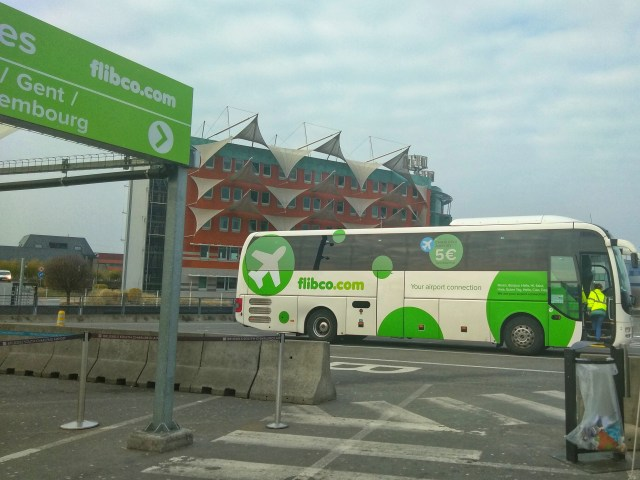 Image of Flibco bus at Charleroi Airport