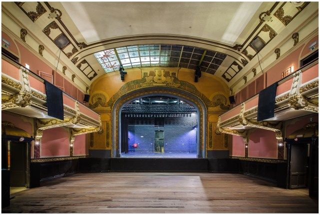 This is an image of one of Vooruit's concert venues in Ghent
