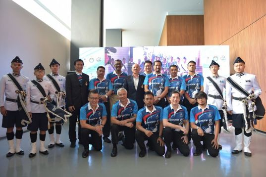 Squash President of Thailand with Referees