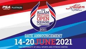 Allam British Open Dates Revealed