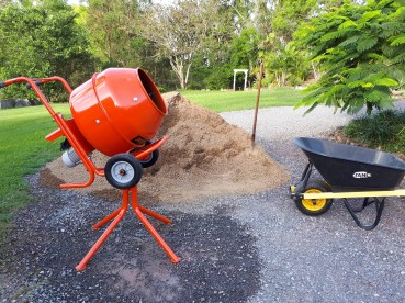 Our new toy: a mini concrete mixer