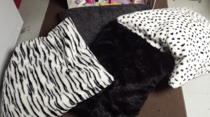 Faux fur floor pillows