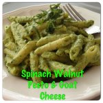 Pesto Goat Cheese Pasta