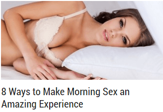 8 Ways to Make Morning Sex an Amazing Experience