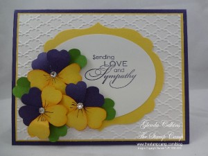 Pansies With Sympathy
