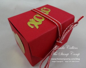 Angled Tag Topper Punch Party Favor Box