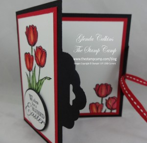 Blessed Easter Scallop Tag Topper card open
