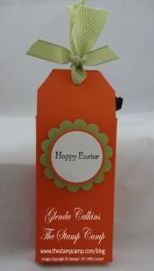 Chocolate Bunny Treat Holder