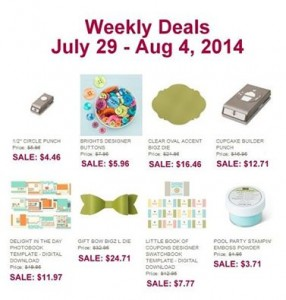 weekly deals July 29 - Aug 4
