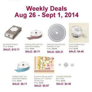Weekly Deals August 26
