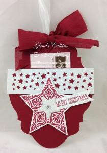 Cherry Cobbler Ornament Gift Card Holder
