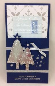 Silver & Navy Gift Card Holder