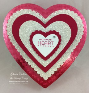 Hearts filled with chocolate
