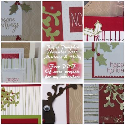 Paper Pumpkin Mistletoe & Holly copy