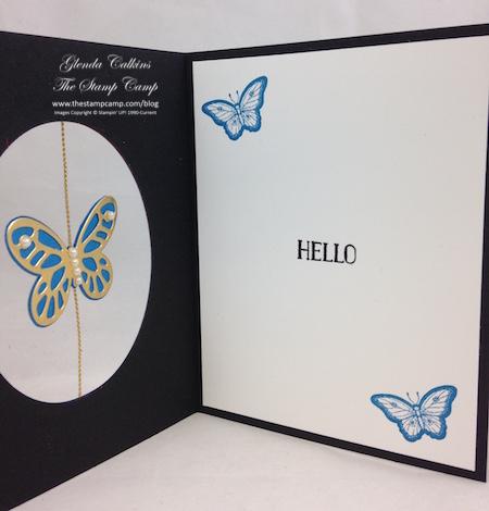 inside butterfly card