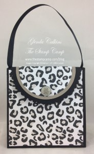 Go Wild Gift Bag Punch Board Purse