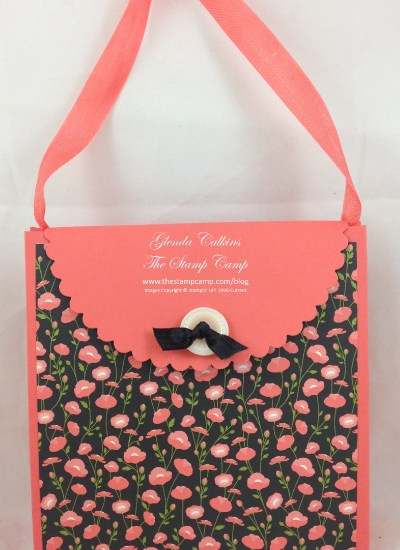 Wild about Flowers Purse using Gift Bag Punch Board