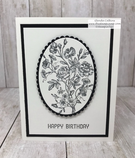 Clean and Simple stamping can be so pretty and doesn't take all the much effort.  The classic look of Black and White is very classy and elegant.  Details: www.thestampcamp.com #stampinup #veryvintage #thestampcamp #stamp #craft