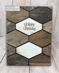 Faux Wood Tile with the Tailored Tag Punch