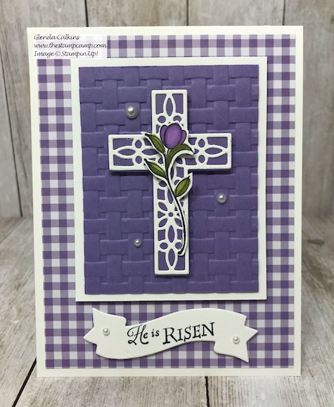 His Grace stamp set perfect for your Easter cards from Stampin' Up!  details on my blog: www.thestampcamp.com #stampinup #thestampcamp #Easter, #glendasblog