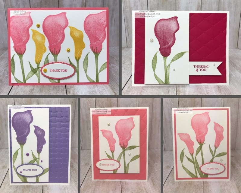 Lasting Lily stamp set from Stampin' Up! This was a Sale-a-bration stamp set which I'm giving away on my blog: www.thestampcamp.com #stampinup #thestampcamp #glendasblog #saleabration