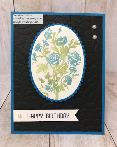Multi-coloring a Stamp with Brusho Crystals can be so much fun! Brusho is fun crystals that dissolves when wet. You can do lots of different techniques with this product. #thestampcamp #stampinup #brushocrystals #techniques