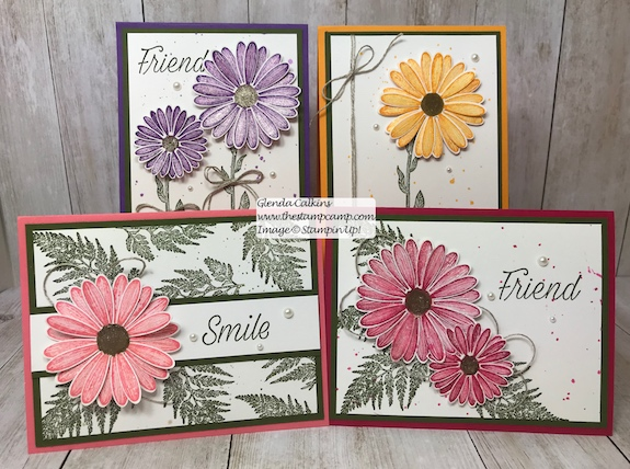 This is my featured stamp set for June it is the New Daisy Lane Bundle and I also added the Daisy punch. The bundle has the smaller Daisy punch in it. Details and ordering available on my blog: https://wp.me/p59VWq-a6R #stampinup #thestampcamp #daisylane