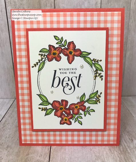 A simple card for wedding or anniversary. This is the retiring Floral Frames Bundle from Stampin' Up! Purchase it soon before it is gone for good! Details: www.thestampcamp.com #thestampcamp, #stampinup #retiring #handmade