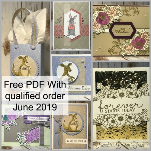 This is the June Customer Appreciation PDF file available for FREE with a min. $40.00 order and the use of this hostess code: DW74WJWX #stampinup #thestampcamp #cards #cardkit