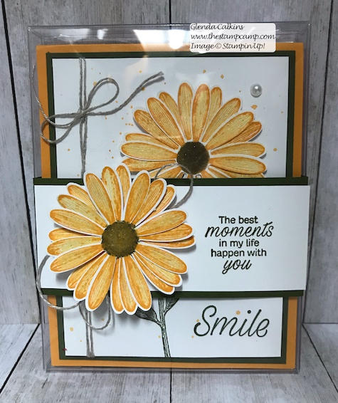 This is the Stampin' Up! Daisy Lane stamp set in all the New 2019/2021 In Colors. Details on my blog here: https://wp.me/p59VWq-a9K #stampinup #thestampcamp #InColors #cards #stamps #daisylane